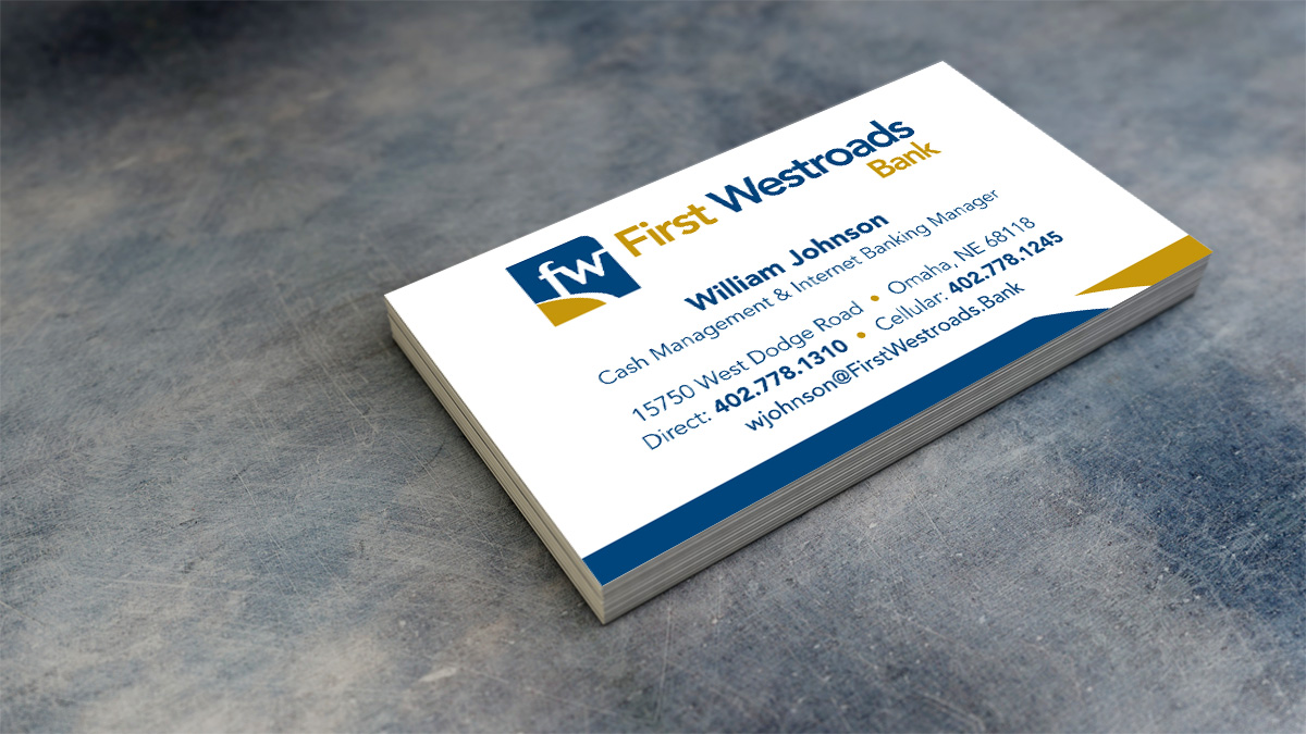 First Westroads Bank business cards